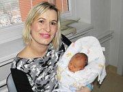 Druhorozený syn Ondrášek Krakovka se narodil 15. prosince mamince Marii Kozlové z Hatě. Po narození chlapeček vážil 3500 g a měřil 50 cm. Bráška Tomášek se těší na miminko.