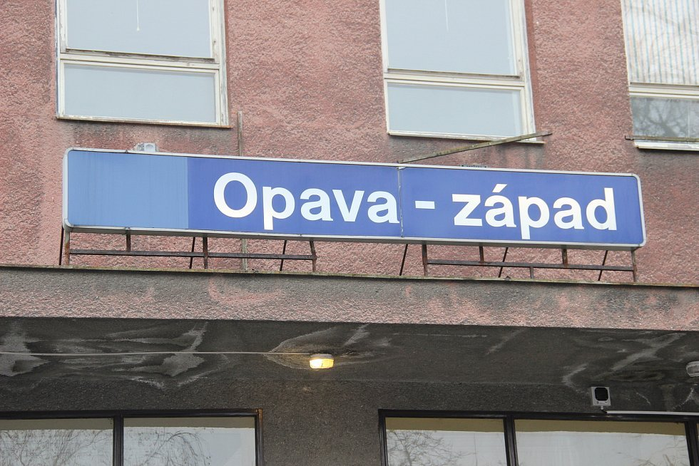 Nádraží Opava západ.