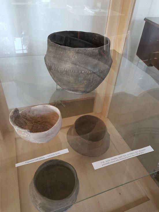 Archeologická expozice na zámku.