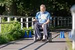 Závod do vrchu na invalidních vozících s názvem ECCE HOMO Hrabyně.