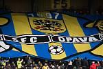 fanoušci SFC Opava, transparent, znak SFC