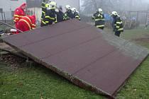 Nehoda v Dobroslavicích.