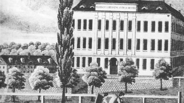 Jaselská kasárna (rok 1860).