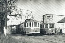 Tramvaj v Ludgeřovicích v místě bývalého vlakového nádraží.