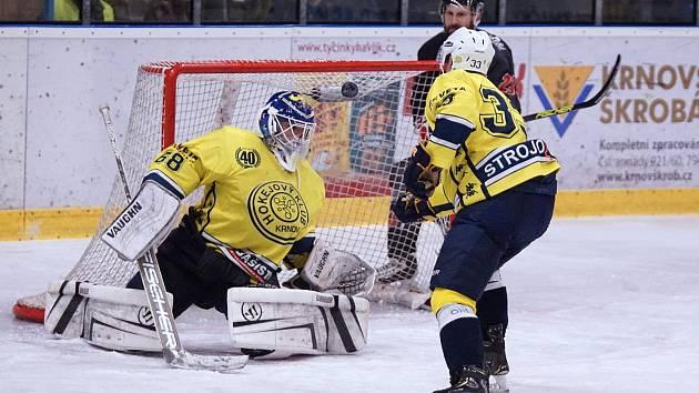 Vítězslav Kober byl v play-off jedničkou krnovského Strojosvitu. Bohužel do finále mu nepomohl.