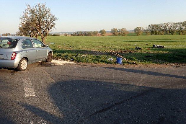 Tragická nehoda ve Vávrovicích.