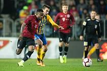 Opava - Zápas osmifinále MOL Cupu mezi SFC Opava a AC Sparta Praha 28. listopadu 2018 na Městském stadionu v Opavě.