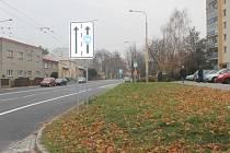 Místo pruhů na parkování cyklostezky. Změna, na kterou si nyní musí zvyknout obyvatelé Kylešovic.