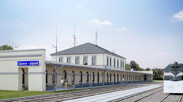 Vizualizace nové podoby nádraží.