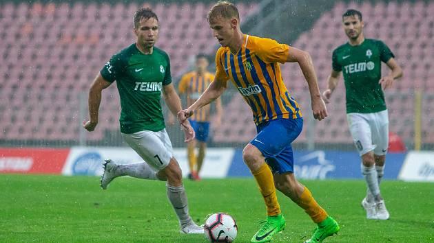 Útočník Slezského FC Opava David Puškáč - Ilustrační foto.