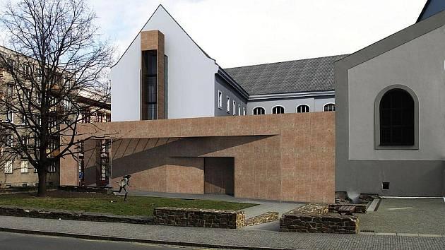 Vizualizace vstupní části Domu umění podle architektů Daniela Špičky a Mikuláše Hulce.