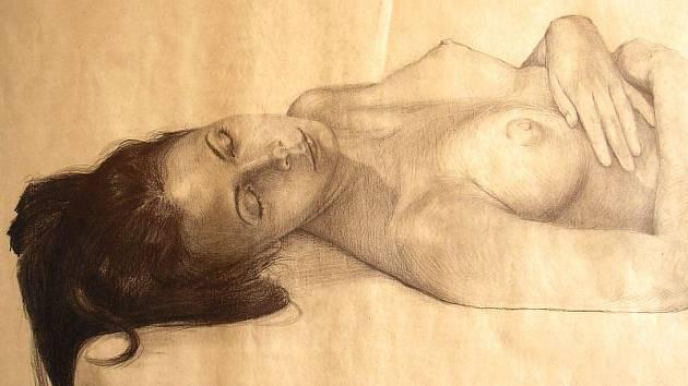 Jedna z kresebných studií Marka Koláře, která ctí kánony starých mistrů.