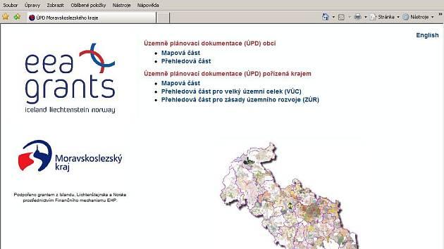 Web ÚPD Moravskoslezského kraje. (http://mapy.kr-moravskoslezsky.cz/ost/)