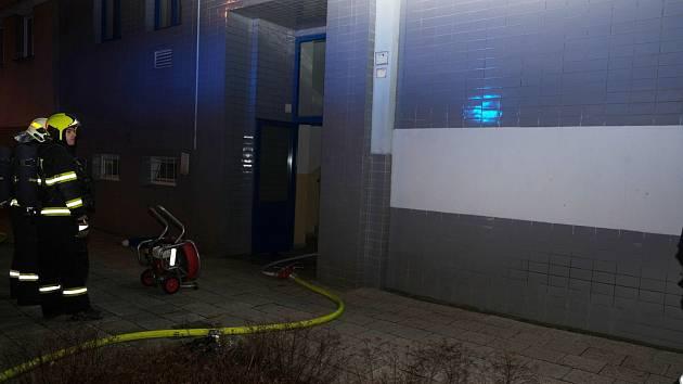 Požár bytu v Hlučíně.