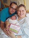 Veronika Krämerová se narodila 23. října, vážila 3,34 kilogramů a měřila 50 centimetrů. Rodiče Gabriela a Kamil z Opavy jí do života přejí hlavně zdraví.