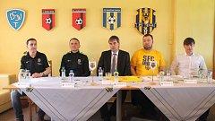 Tisková konference Slezského FC Opava.