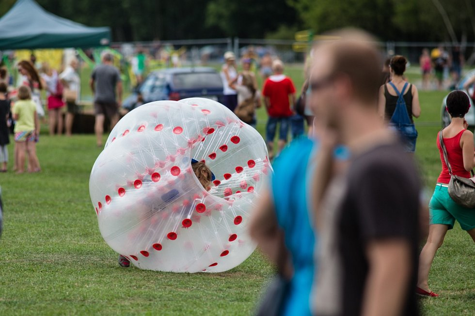Atraktivní víkendový program 12. ročníku festivalu Štěrkovna Open Music  (například Horkýže Slíže, Precedens, Mig 21 nebo Jelen) byl tak nabitý, , že nedošlo ani na dražbu sochy festivalového motýla.