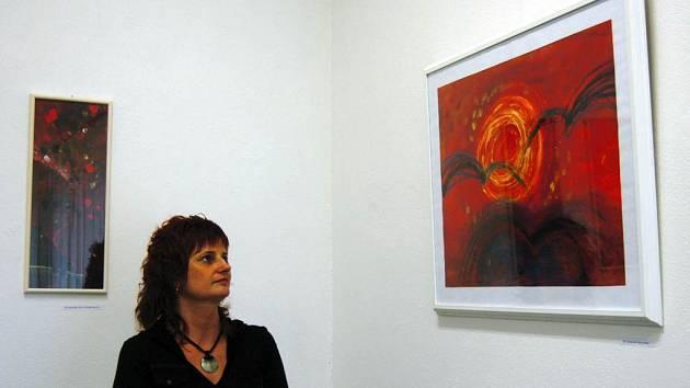 Monotypy a kresby Aleny Zupkové a Petra Hanouska můžete v Librexu vidět do konce měsíce.