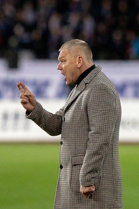 Utkání 18. kola fotbalové Fortuna ligy: FC Baník Ostrava - SFC Opava, 29. listopadu 2019 v Ostravě. Na snímku trenér Opavy Jiří Balcárek.