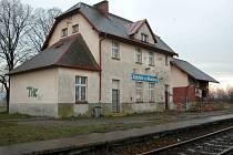 Nádražní stanice v Zábřehu u Hlučína.