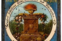 Výstava Paměť Slezska bude zahrnovat celkem 350 předmětů. Jedním z nich se stane i terč s motivem ohně a ovoce k poctě arcivévody Františka Karla z roku 1827.