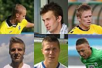 Horní řada zleva - Radovan Lokša, Marcel Cudrák, Jakub Dohnálek. Spodní řada zleva - Radim Grussmann, Ondřej Lysoněk a Martin Uvíra.