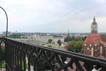 Výhled na Opavu z místní radnice.