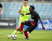 Přípravný zápas SFC Opava - MŠK Žilina 23. června 2018. Joel Ngandu Kayamba - o.