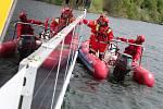 Bruntálští vodní záchranáři v akci.
