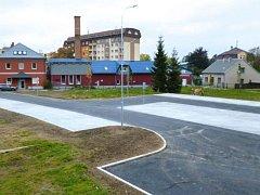 Nové parkoviště v Rýmařově.