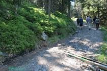 Cesta u Švýcárny je v těchto dnech už kvůli opravám rozkopaná a uzavřená. Pěší návštěvníci Jeseníků i cyklisté si v  musí zvolit  jinou trasu.