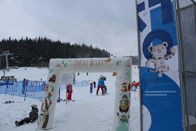Na Kopřivné v Malé Morávce (na snímku) a v sousedním Karlově proběhne zábavný Olympijský festival.