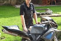 Petr Kubalík je v rámci závodů silničních motocyklů teprve nováčkem. Se svou premiérou je ale spokojen.