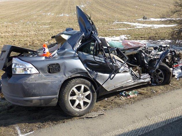 Vážná nehoda u Valšova na Bruntálsku.