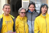 Příznivci Falun Dafa upozorňovali v Krnově na porušování lidských práv v Číně.