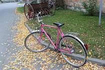 Obecní kolo v Úvalně má růžovou barvu. O růžová kola totiž mají zloději údajně menší zájem.