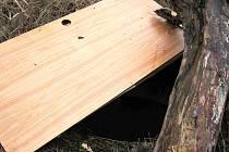 Náhodní svědci pak nebezpečný otvor provizorně zakryli.