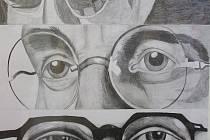 Výtvarné práce dětí byly zaměřeny na oči a oční optiku.