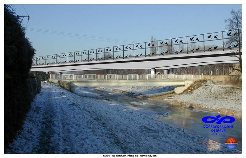 Vizualizace obchvatu sice pochází z roku 2003, ale občanům Krnova byla zpřístupněna teprve minulý týden. V těchto místech estakáda prochází ochranným pásmem krnovské vodárny zahrádky.