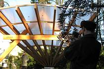 Hudební pavilon vznikl v rámci rekonstrukce parku, ukončené vloni v prosinci.