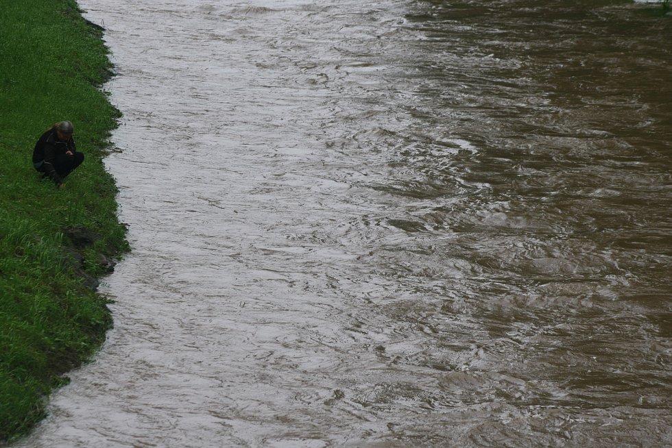 Řeka Osoblaha v neděli 21. června 2020.