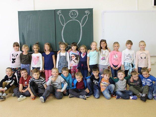 Prváčci z1.C Základní školy Bruntál, Jesenická 10.Jejich třídní učitelkou je Iveta Zatloukalová.