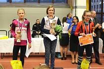 Kristýna Krpcová (vlevo) vybojovala na Memoriálu Marty Habadové stříbro.
