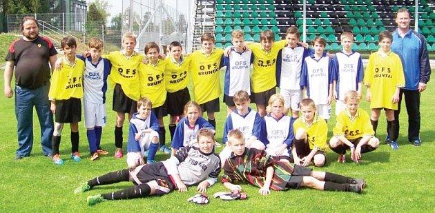 Reprezentační žákovský výběr OFS Bruntál ročník 2002 a mladší.