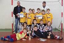 Vítězové turnaje OPS Bruntál z místního fotbalového klubu Juventus.