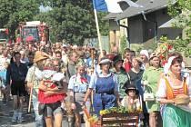 Dožínky se loni vrátily do Slezských Rudoltic. Ty letošní se konají 16. srpna a bude při této příležitosti na Osoblažce vypraven speciální parní vlak.