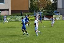 Město Albrechtice porazilo ve 12. kole fotbalové I.B třídy, skupiny A, Chomýž 4:2.