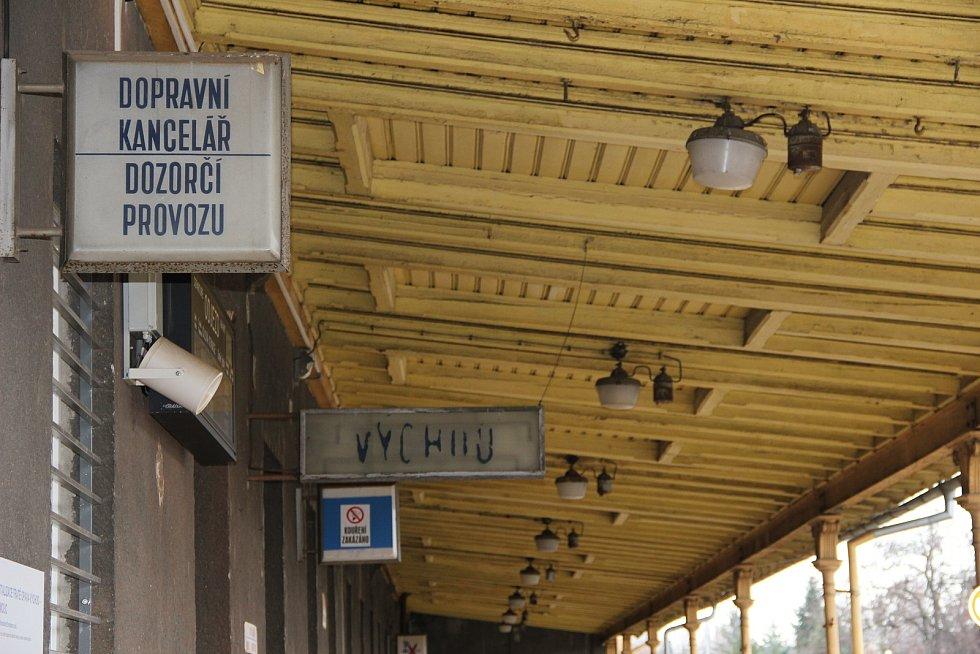 Nádraží v Opavě.
