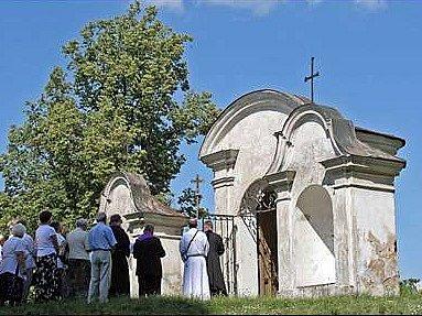 Trojdílná barokní kaple na Cvilíně.