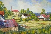 Malíř Zdeněk Kurečka se ve své tvorbě často nechává inspirovat poetickou krajinou Krnovska, Albrechticka, Osoblažska a Jindřichovska.